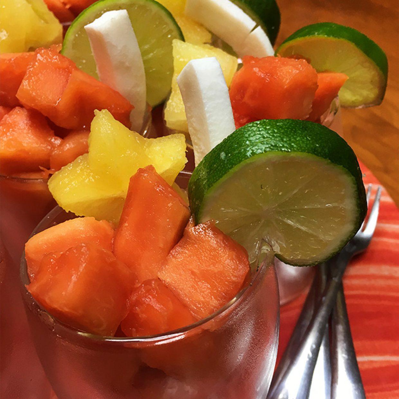 Papaya, starfruit, coconut and lime, OH my!