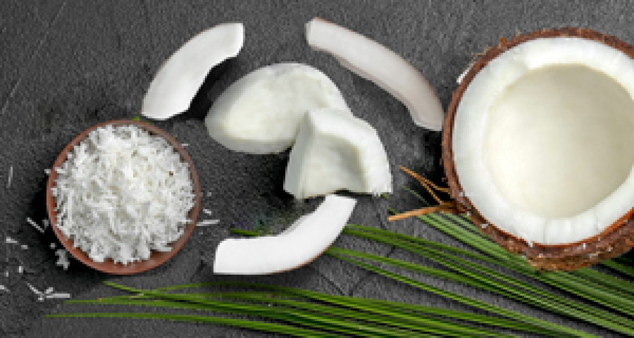 The many shapes of fresh coconut