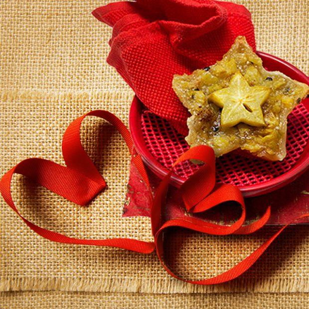 Starfruit passionfruit torte