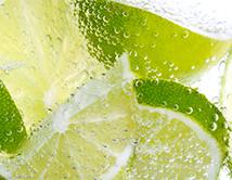 Aqua limon or lime water