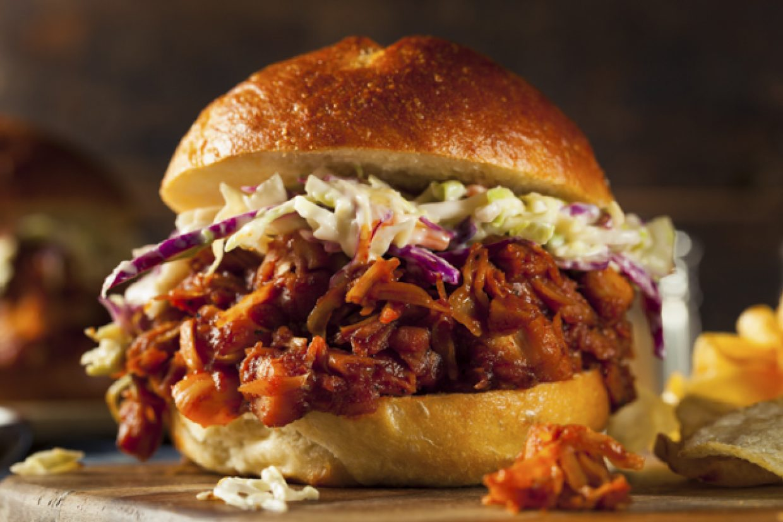 Taste like pork - jackfruit BBQ Sandwich