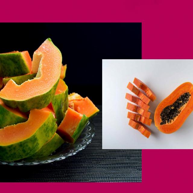 More than 1 way to chop a papaya