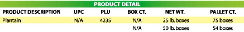 Plantains product details