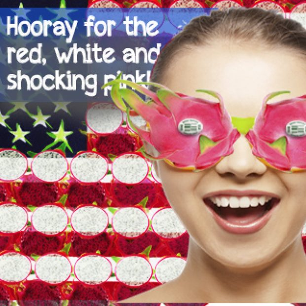 Hooray for the red, white and dragonfruit!