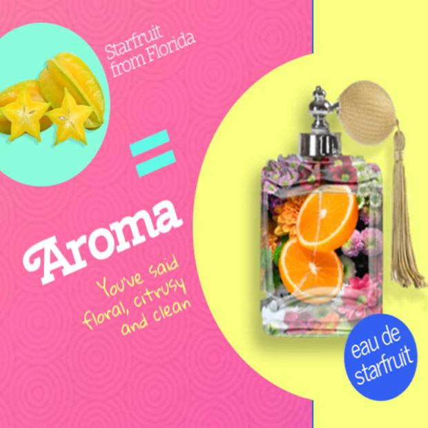 Describe starfruit's aroma
